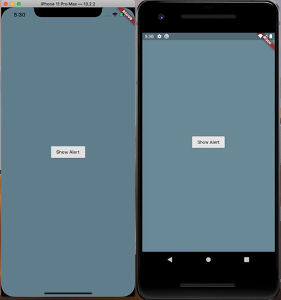flutter alert dialog box on ios and android devices