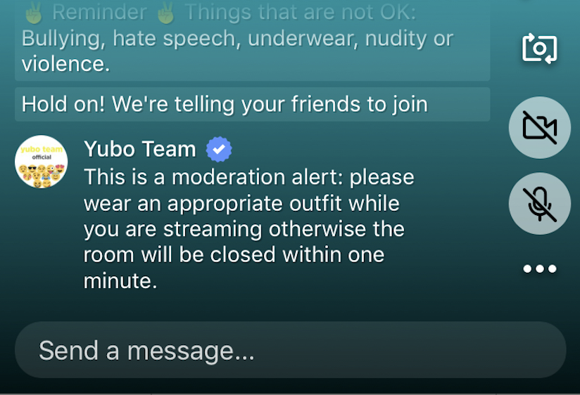 Real-time intervention on social video : Yubo takes the lead