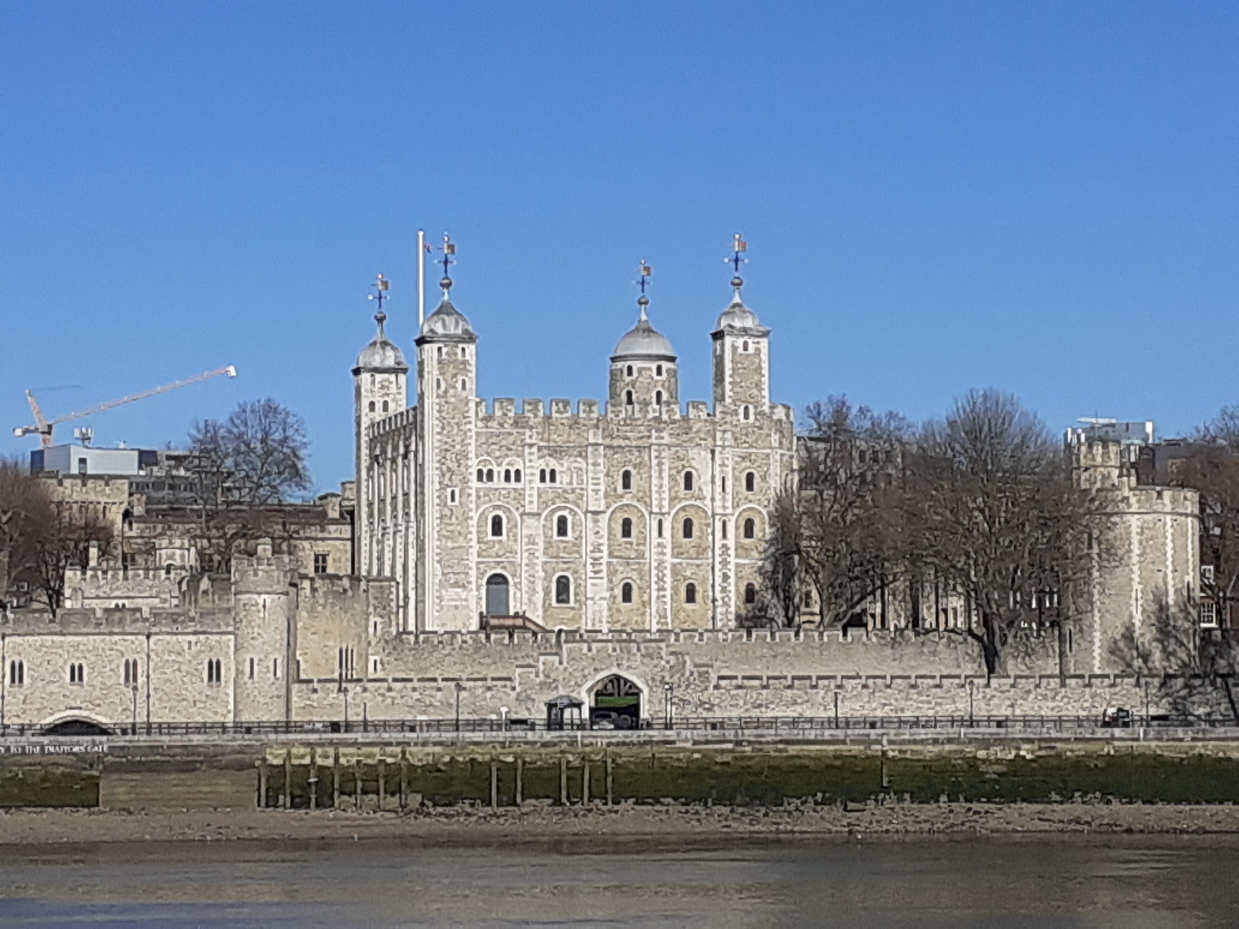 A medieval castle. The Tower of London