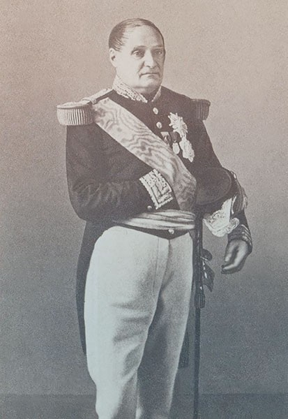 Jerome Bonaparte, with a receding thinning hairline. He looks like his brother and is copying his hand-in-uniform posture.