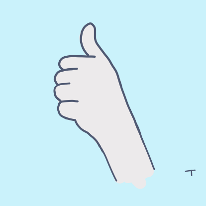 An illustrated 'thumbs up'