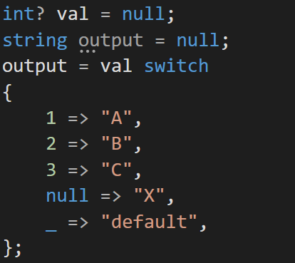 C# Switch Expression: Value Pattern (Constant Pattern) Example