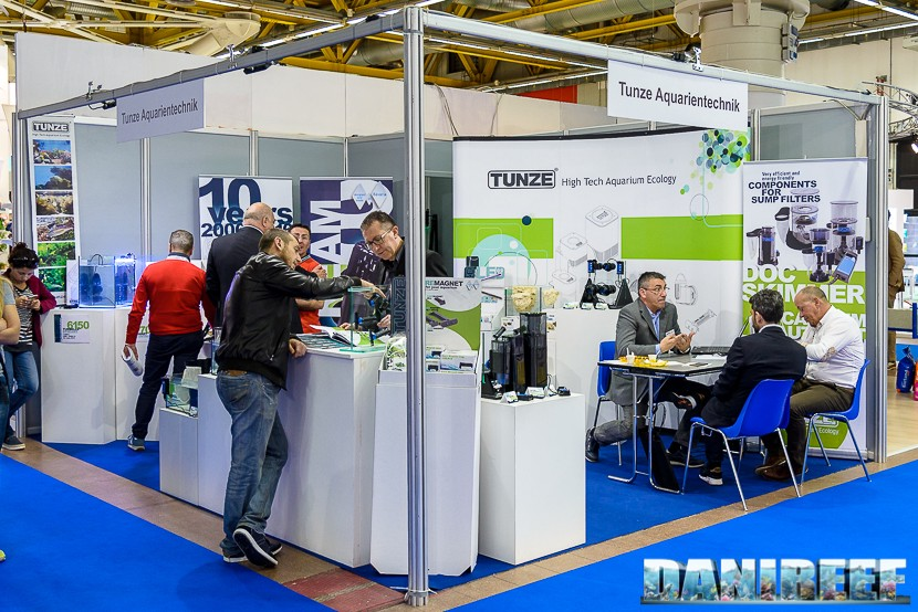 Zoomark 2017: Tunze's booth with a plethora of products on show