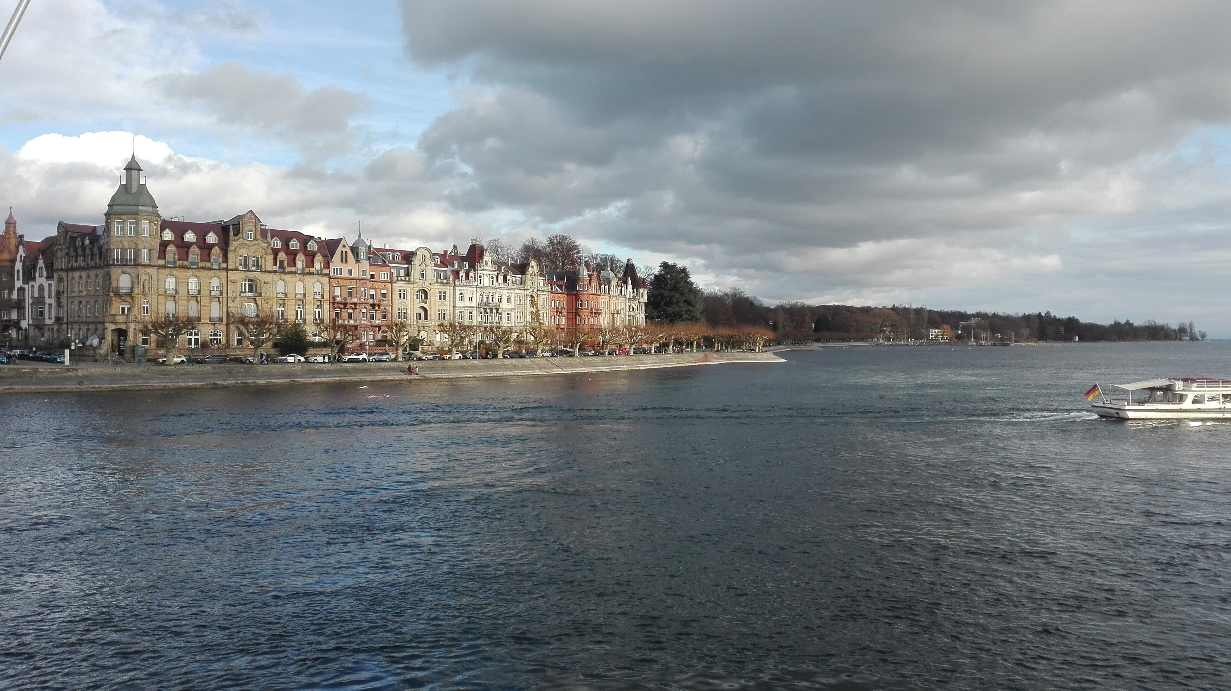 Lake Constance in Germany. Konstanz is a city on Lake