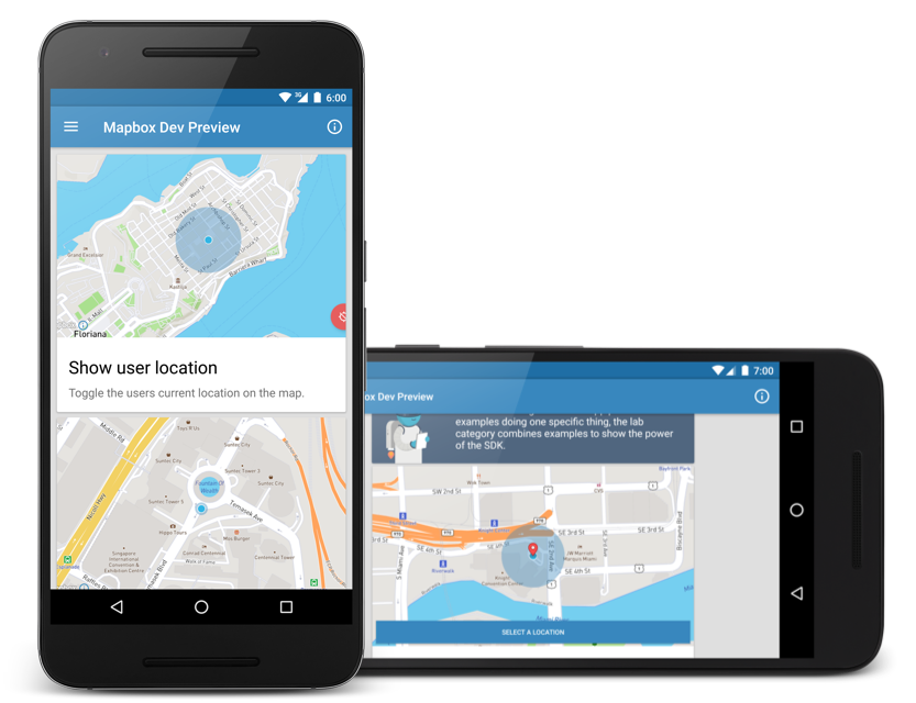 Download the Mapbox Android demo app - Points of interest