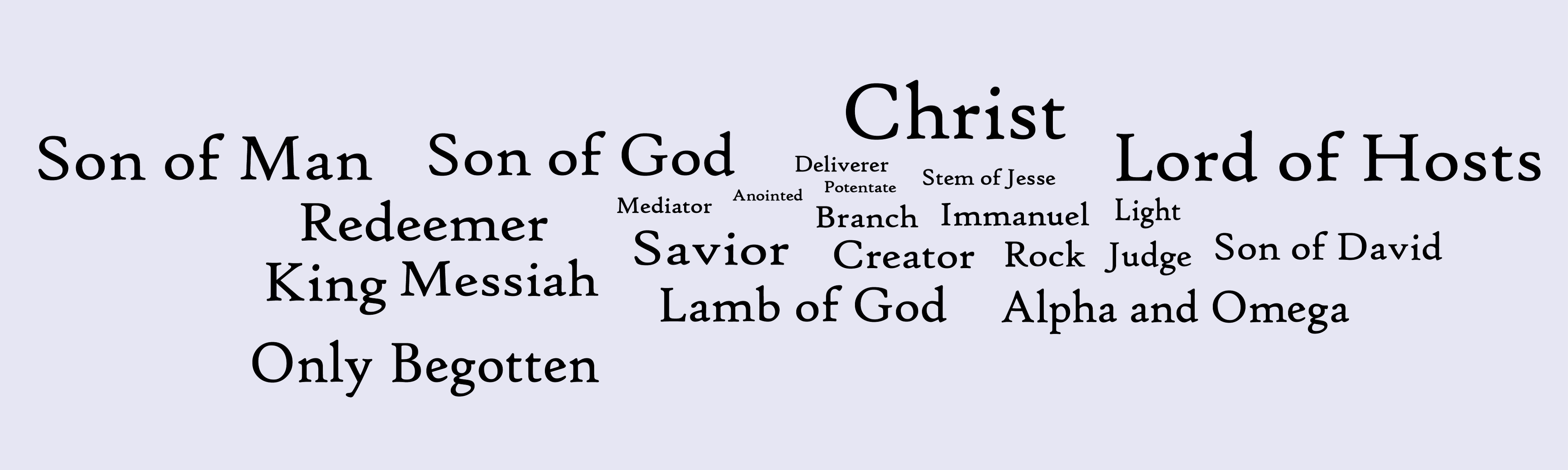 The various titles of Jesus and their usage - Mormondom