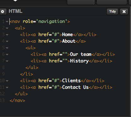 Reviewing a Simple CSS only Drop Down Nav on codepen