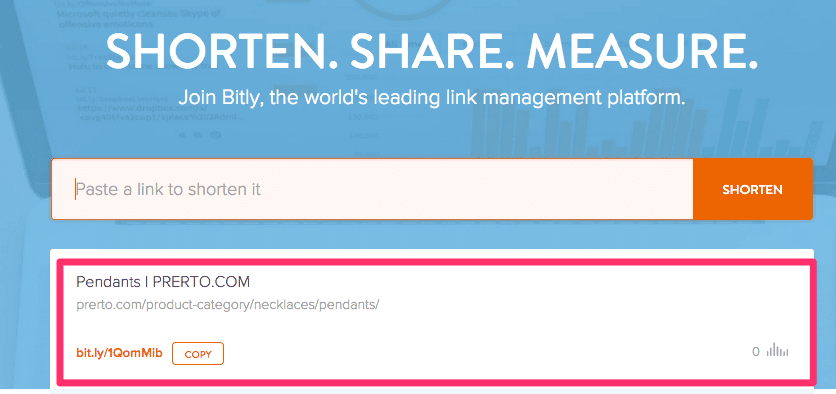 Bitly Short URL