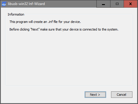 Creating and Installing an INF file with the INF Wizard
