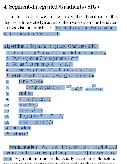 Archived Post ] Segment Integrated Gradients: Better