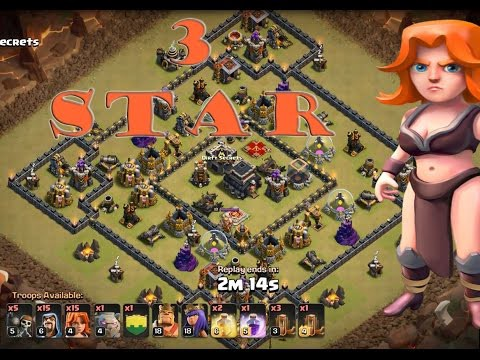 BEST Town Hall 9 (TH9) Clan Wars Attack Strategy — Golem