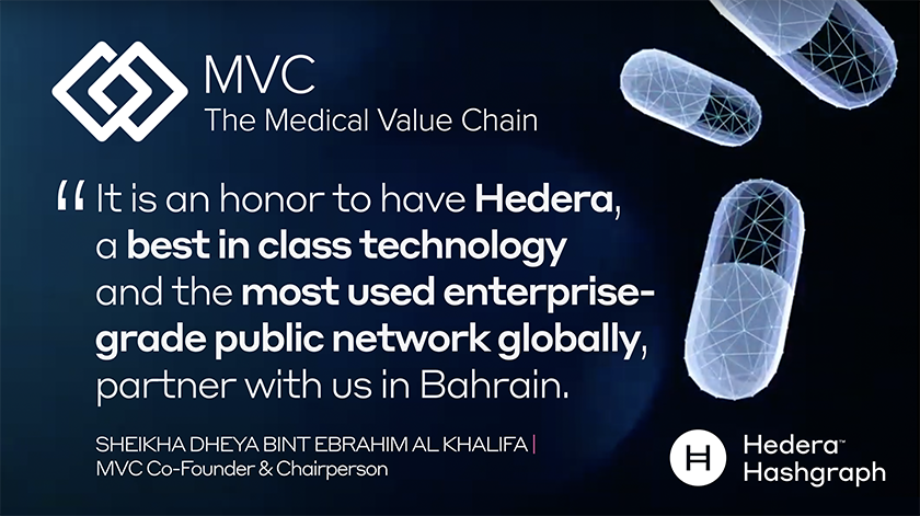 Hedera Consensus Service and MVC Track-and-Trace Platform Now Fully Integrated for Pharmaceutical…