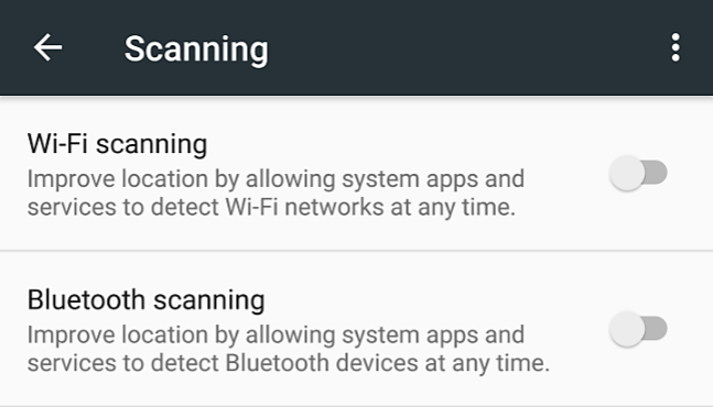How to Disable WiFi and Bluetooth Scanning - Doug - Medium