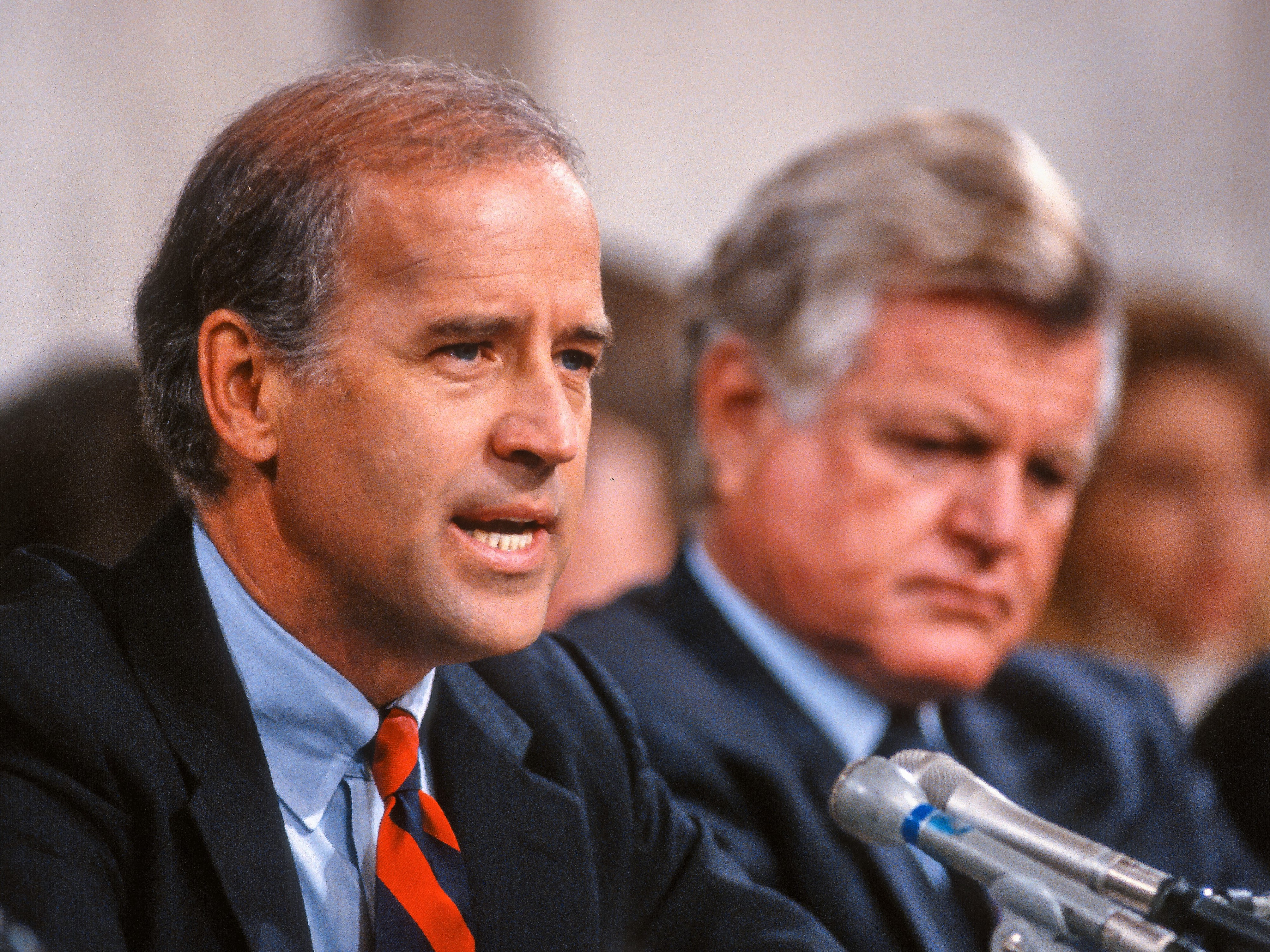 A younger Joe Biden during his time in the Senate in the 1990s