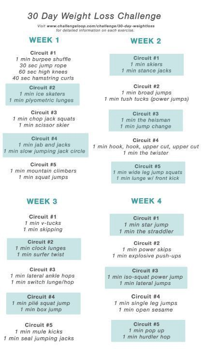 Workouts Plans 30 Day Weight Loss Challenge Challenge 39 S