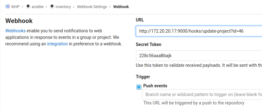 Implementing Ansible AWX—Gitlab integration