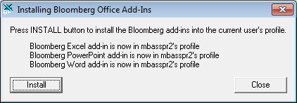 Introduction to Bloomberg Excel add-in - Using specialist