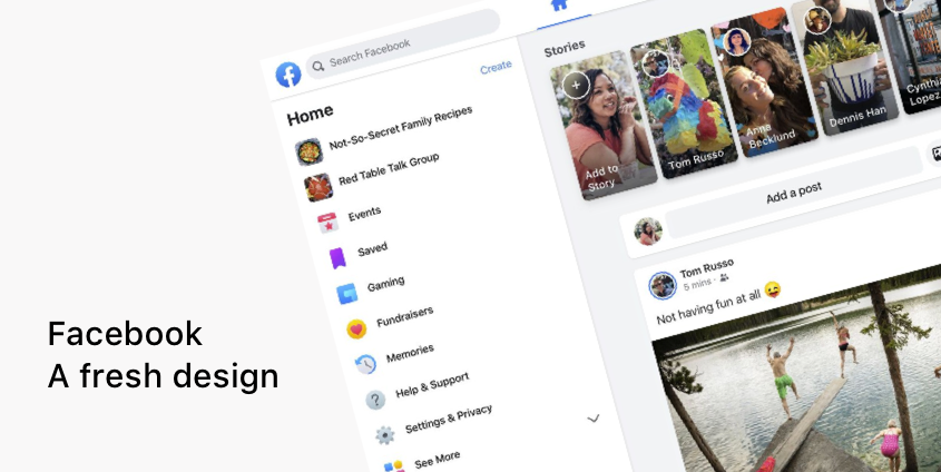 Analyzing Facebook S Major Redesign From Website To App By Shkodran Arifi Ux Collective Facebook is the official android app for the iconic original social network par excellence. analyzing facebook s major redesign