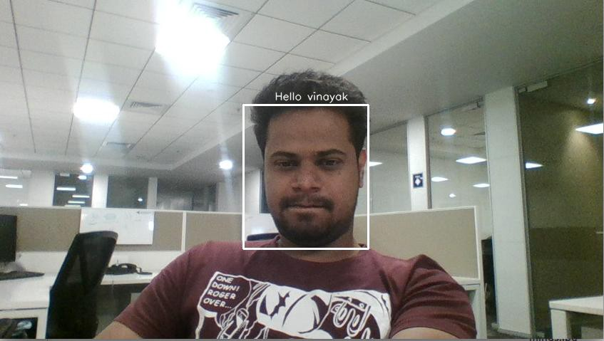 Building a real time Face Recognition system using pre