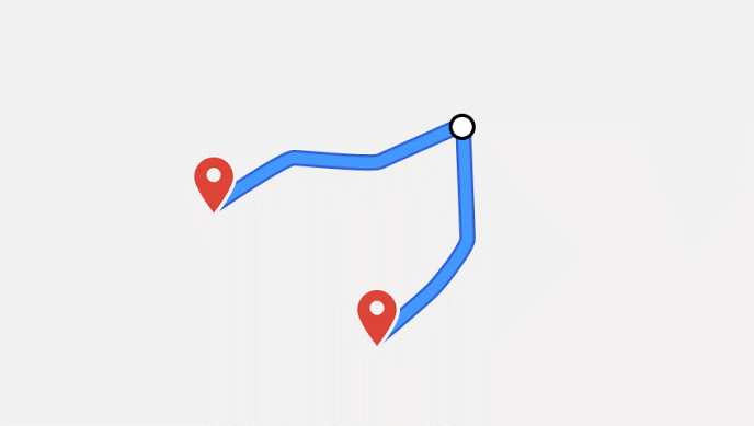 google maps api distance between two points