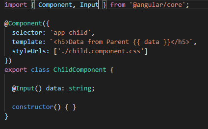 Child component example code