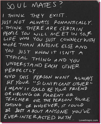 The thing about Soul Mates - P S  I Love You