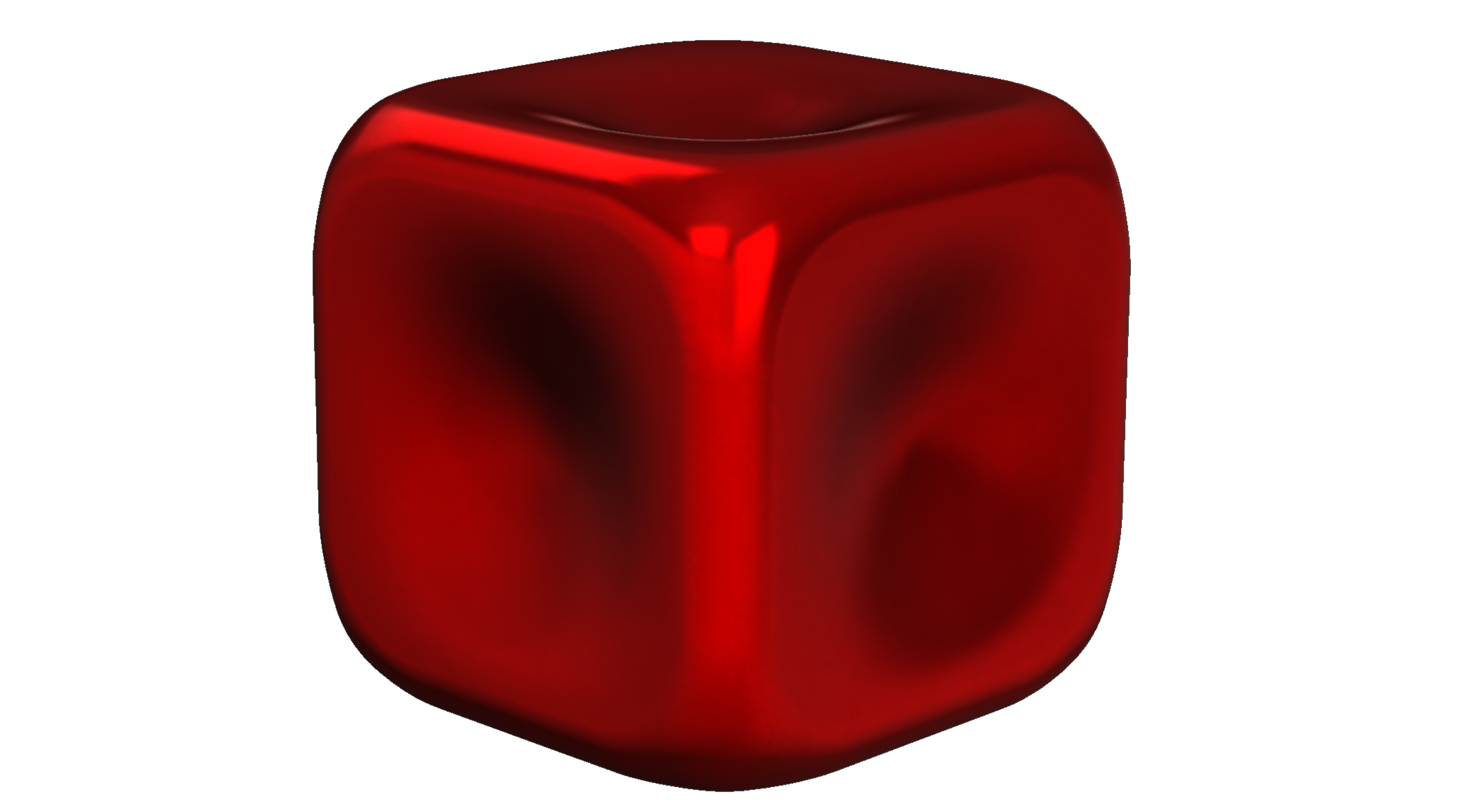 The shiniest red cube imaginable!