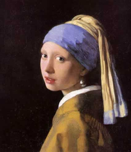 Painting of a Girl with a Pearl Earring by Johannes Vermeer