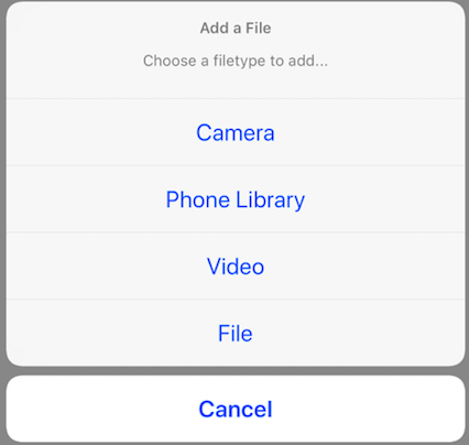 SWIFT: Code block to access iOS Camera, Photo Library, Video, Files