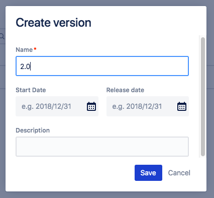 While creating a release in this view, you don't have to set its' dates. So are they required or not?