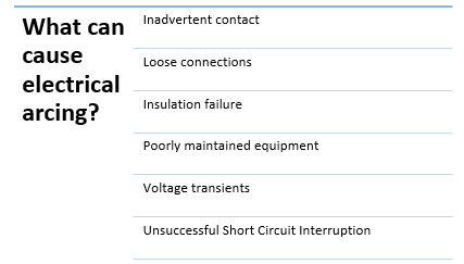 important reasons for electrical arcing