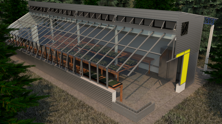 A Friend Colleague And Co Teacher In My New Pive Solar Greenhouse Design Course Curtis Stone Has 900 Sqft That Grows