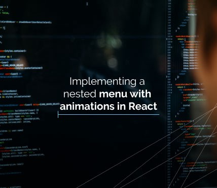 Implementing a nested menu with animations in React