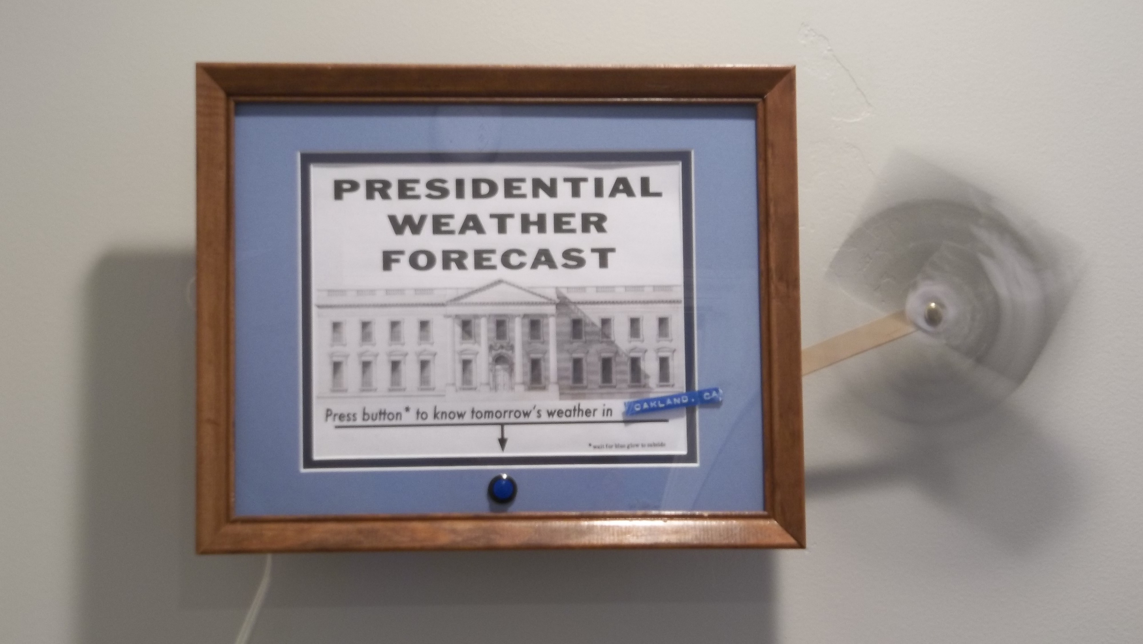 The Presidential Weather Forecast Machine is an Internet of thing inspired by a 2018 news story