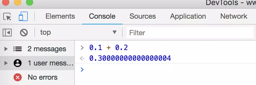 what is the output for console.log(0.1 + 0.2); console.log ...
