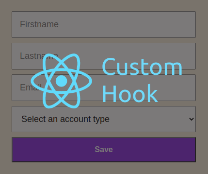 A simple form to collect user details using a custom hook