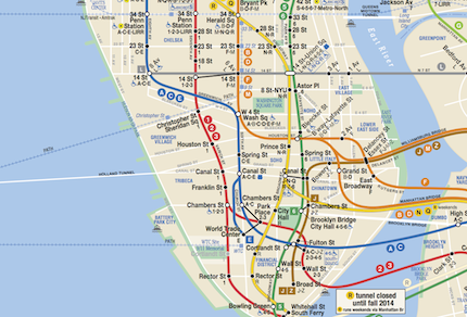 Subway Map Nyc Nj.A More Complete Transit Map For New York New Jersey