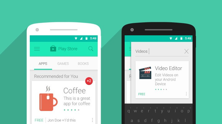 android devices are becoming the leading actor in the mobile application market apples flat design style is very