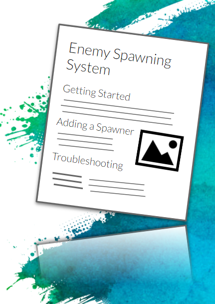Simplified technical design doc describing how to use the enemy spawning system (getting started, adding a spawner, etc.)