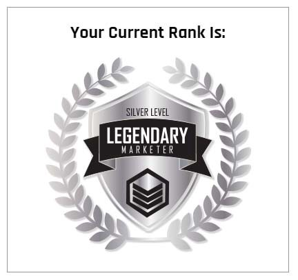 Legendary Marketer Rank: Silver Level
