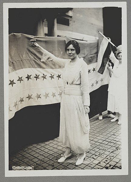 American suffragist Alice Paul toasts the ratification of the 19th Amendment, 1920