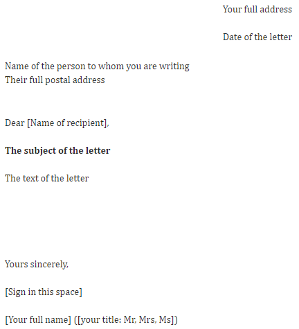 How To Address A Letter You Dont Know Who The Recipient Is.How To Write The Perfect Letter University Of Northampton