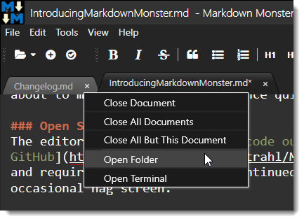 Introducing Markdown Monster a new Markdown Editor for Windows