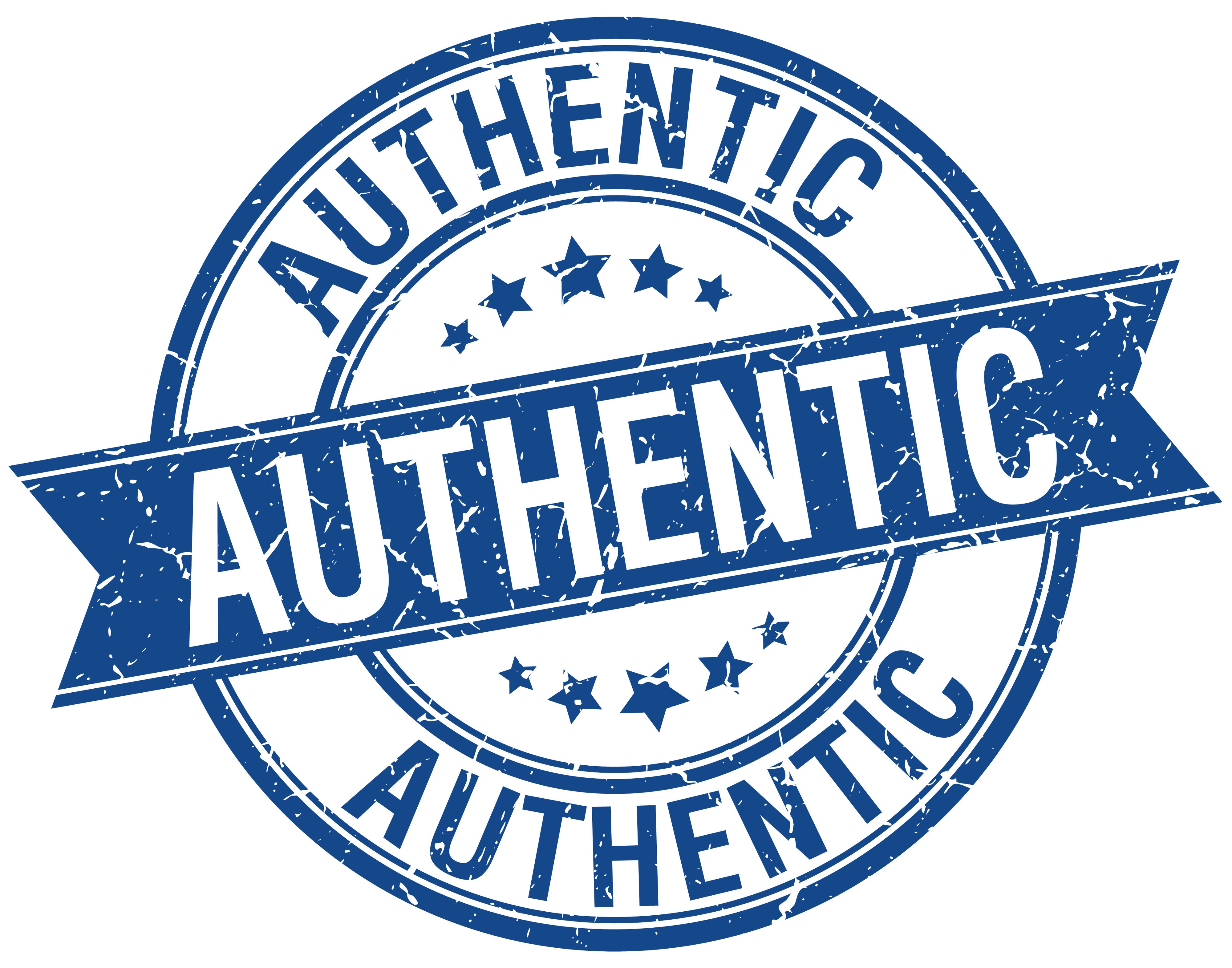 """Retro branding stamp with the word """"authentic""""."""