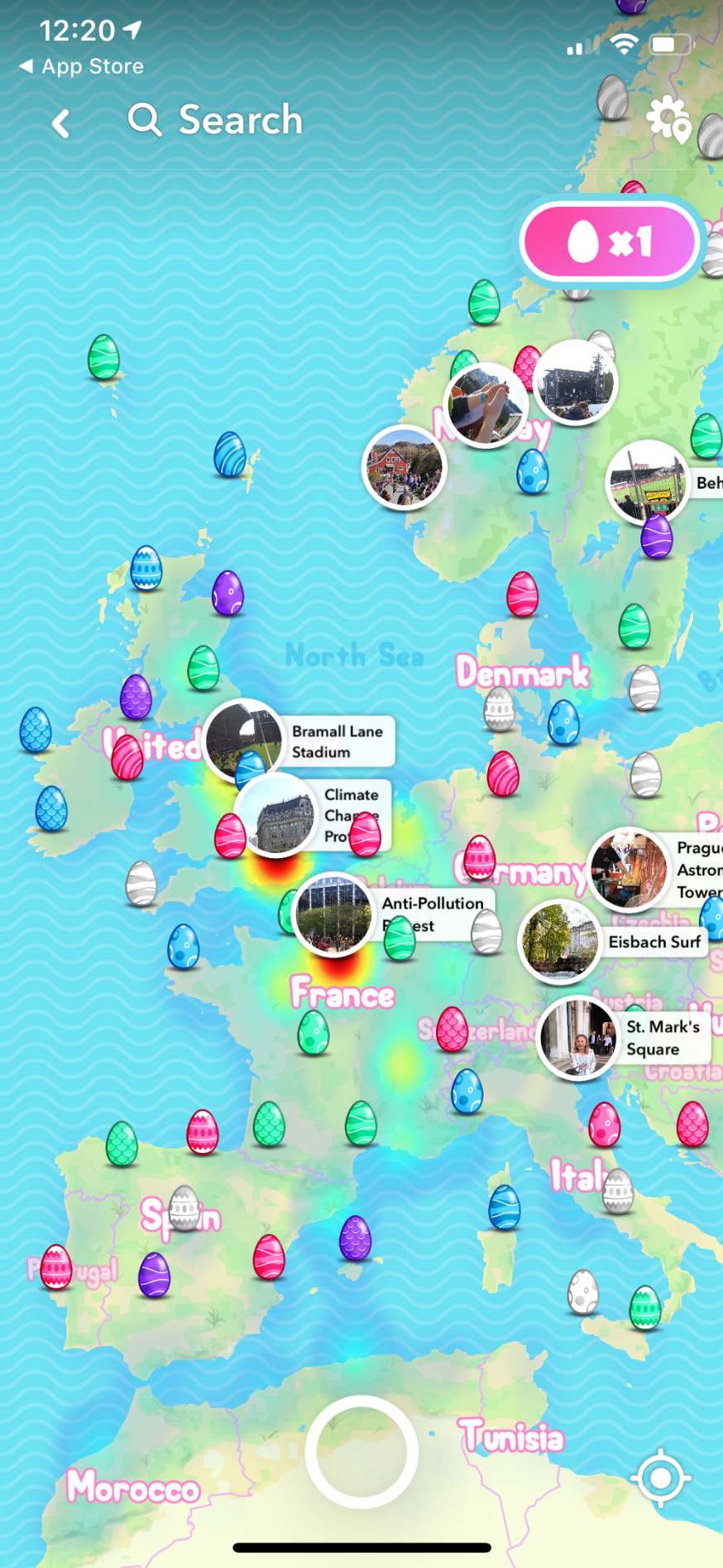 Snapchat's 2019 Egg Hunt is on - Points of interest