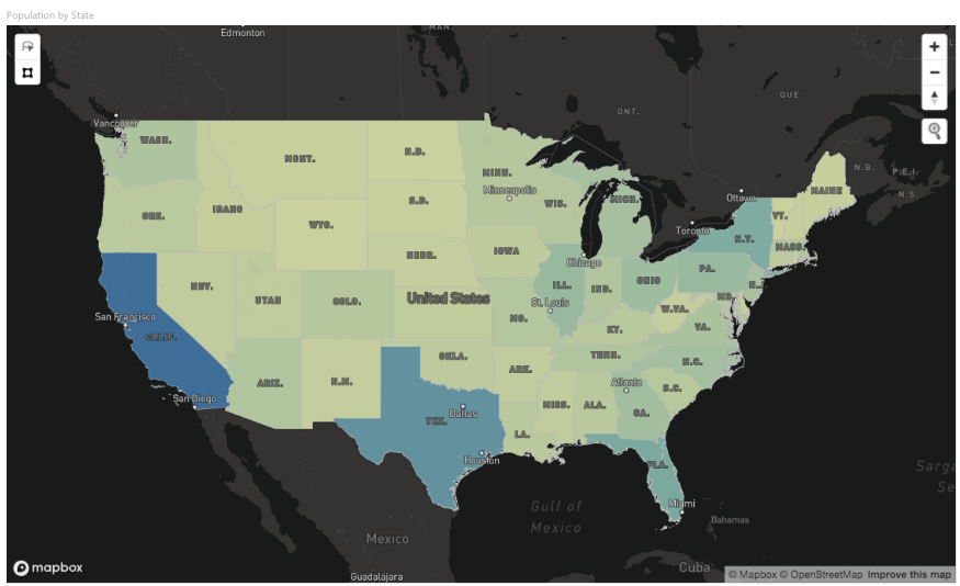 Mapbox Visual for Power BI upgraded - Points of interest