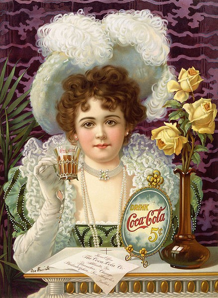 One of the first Coca Cola ads featuring Hilda Clark