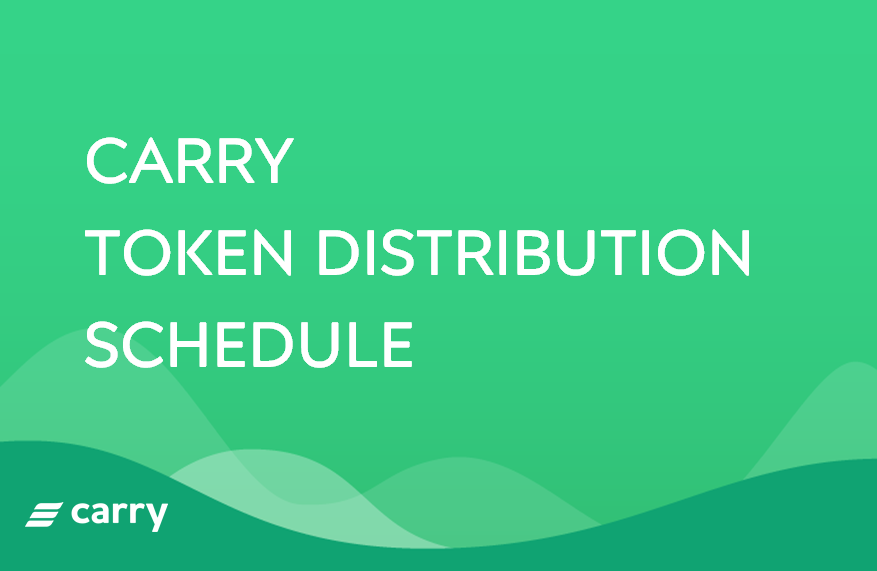 [Announcement] Carry token (CRE) Distribution Schedule Change