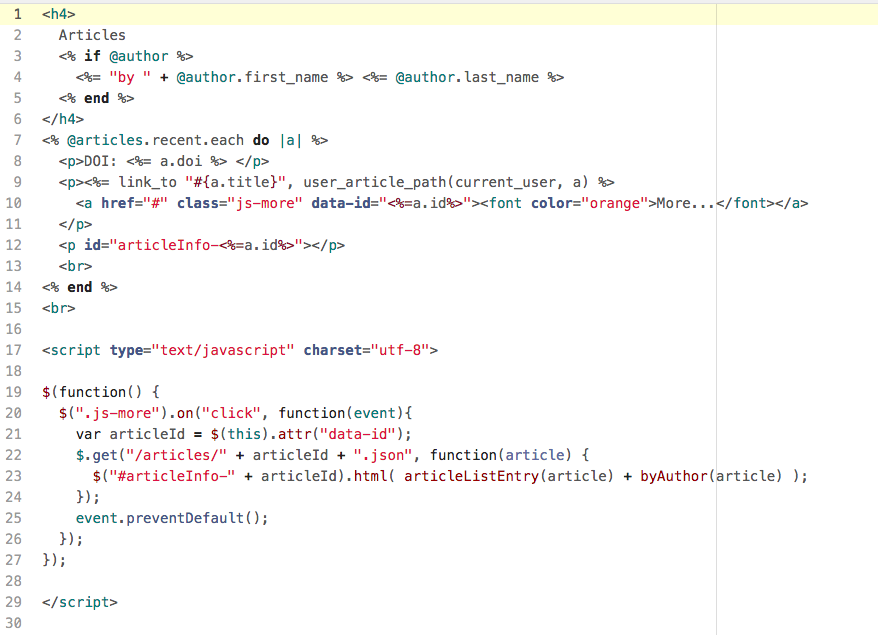 Adding JQuery and Ajax to my Rails App, Journal Share