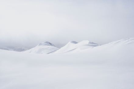 Snow-covered mountain tops